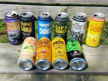 6 can designs that I create, plus 4 cans that I collaborated with artist, Pat Phenzy on.