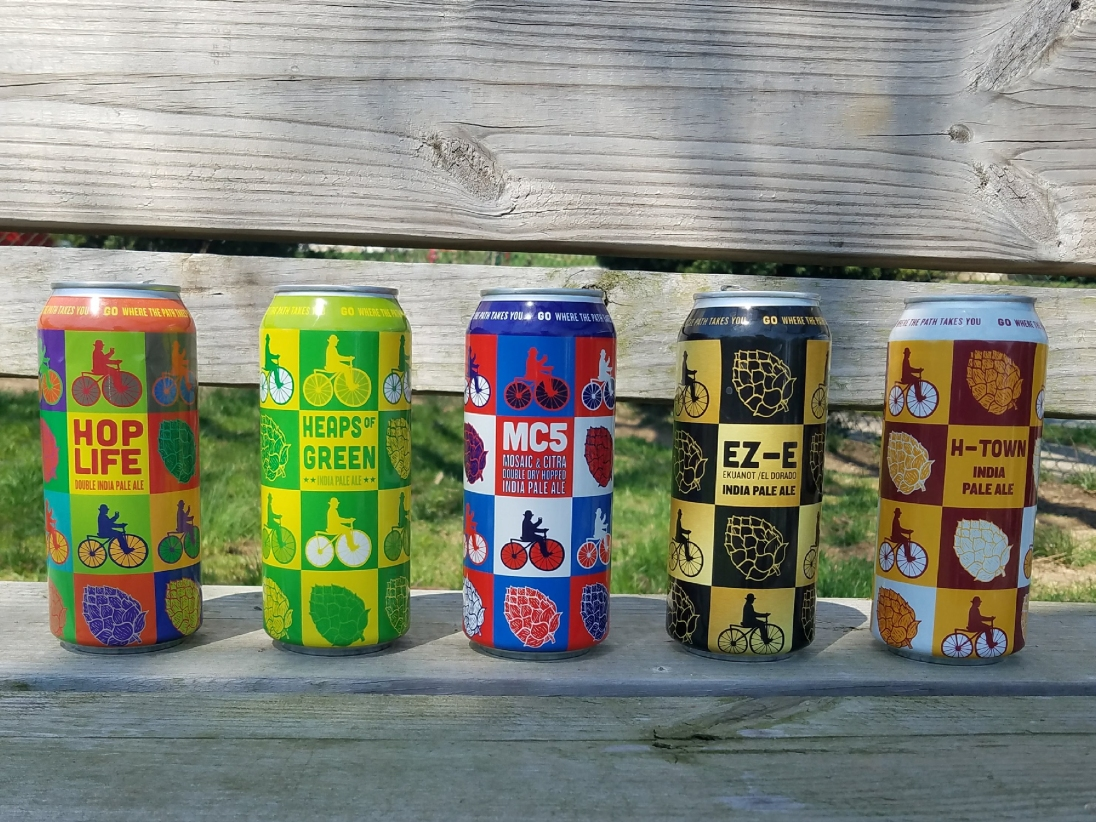 Beer can design series created for Conshohocken Brewery.